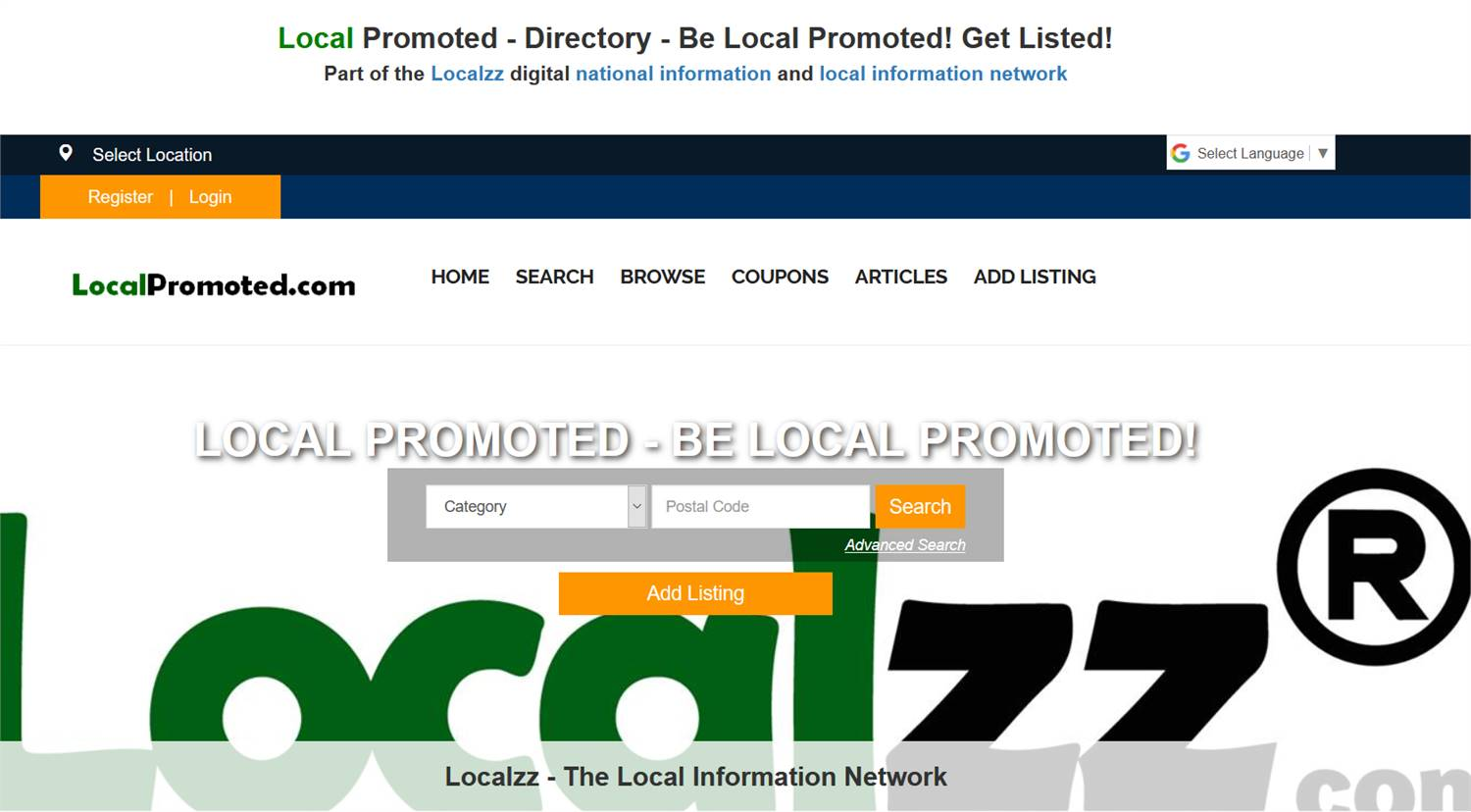 LocalPromoted.com -National to local business and information listings